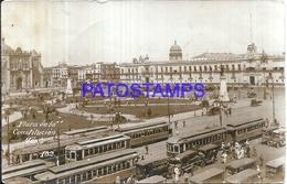115480 MEXICO D.F PLAZA DE LA CONSTITUCION & TRAMWAY TRANVIAS POSTAL POSTCARD - Mexiko
