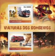 Sao  Tome 2011 Fire Engines - Sao Tome En Principe