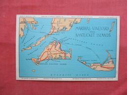Map Marthas Vineyard &  Nantucket Islands     - Massachusetts > Nantucket     Ref  3474 - Nantucket