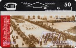 """TWK Österreich Privat: """"1000 J. Österreich - Leichenzug"""" Gebr. - Austria"""