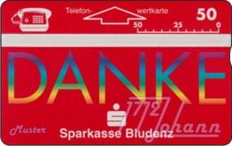 """TWK Österreich Privat: """"Sparkasse Bludenz - Danke"""" Gebr. - Austria"""