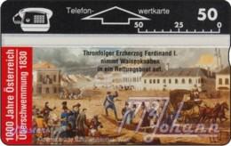 """TWK Österreich Privat: """"1000 J. Österreich - Überschwemmung 1830"""" Gebr. - Austria"""