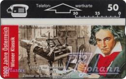 """TWK Österreich Privat: """"1000 J. Österreich - Beethoven"""" Gebr. - Austria"""