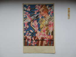 SUPERB! ART DECO , WOMAN , SIGNED R. SÖÖT  , OLD POSTCARD  ,0 - Autres Illustrateurs