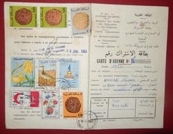 MOROCCO MARRUECOS  MAROC CARTE D' ABONNEMENT AUX EMISSIONS SPECIALES DE TIMBRES-POSTE CASABLANCA 1982 - Autres