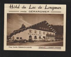 Dépliant 3 Volets Sur HÔTEL DU LAC DE LONGEMER. Vosges - Années 1930/40 - Famille Fermbach-Lalevée à XONRUPT -10 Scannes - Folletos Turísticos