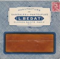 GANDON 3F SUR ENVELPPE ILLUSTREE MANUFACTURE DE SANDALES ET PANTOUFLES BEDAT OLORON 1946 - 1921-1960: Periodo Moderno
