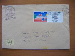 Réunion : Deux Lettres De 1982 Et 1999 Dont Vignette Philexfrance 82 Et  Griffe «25 Ans De CFA à La Réunion…». - Reunion Island (1852-1975)