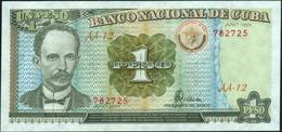 CUBA - 1 Peso 1995 {Banco Nacional De Cuba} AU-UNC P.112 - Cuba