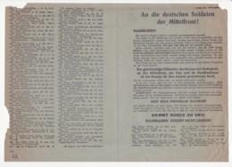 WWII WW2 Flugblatt Tract Leaflet Soviet Propaganda Against Germany  CODE 2273 - 1939-45