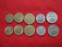 Chile Set 5 Monedas  KM 194-195-196-197-199 1971 -1972 - Chile