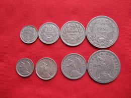 Chile Set 4 Monedas  KM 165-166-167-176 - Chile