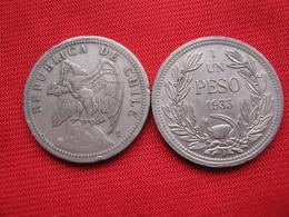 Chile 1 Peso 1933 KM 176 - Chile
