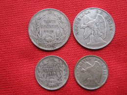 Chile Set 2 Monedas Km 156.2a - 151.3 Silver, Argent. - Chile