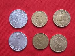 Chile Set 3 Monedas KM 200- 201-202 - Chile
