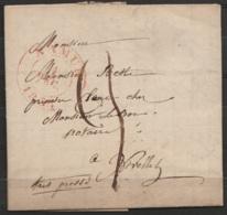 """L.datée 1836 De SPY Pour Notaire à NIVELLES + Càd NAMUR/1836 + Man """"très Pressé"""" + Port 3 (au Dos: Càd NIVELLES/1836) - 1830-1849 (Belgique Indépendante)"""