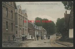 59 WALINCOURT - Route De Deherie Et Rue Du Bois - COULEURS - BELLE - Altri Comuni