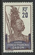 GABON 1910 YT 38** NEUF SANS CHARNIERE - TTB - MNH - Gabon (1886-1936)
