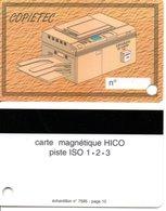 Carte Démonstration Magnétique HICO Piste ISO 1.2.3 - échantillon - Informatique Imprimante (D 543) - France