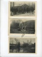 Oisellemont  Bois  ( France )  Chasse - Villa St. Julien  ( 3 Photo's Original  14.5 X 9 Cm )  2 Scans - Lugares