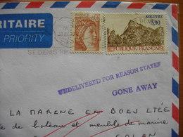 Réunion Et Maurice : Lettre Au Départ De St Denis  Avec Cachet « Undelivered For Reason State Gone Away » - Isola Di Rèunion (1852-1975)
