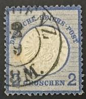 1872 Adler Mit Großem Brustschild Und Abart Blauer Punkt Hinten Rechts 2 - Deutschland