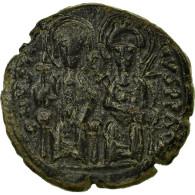 Monnaie, Justin II Et Sophie, Follis, 571, Constantinople, TTB, Cuivre, Sear:360 - Byzantine