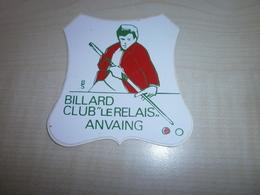 """Autocollant Ancien  ANVAING  Billard Club """"le Relais"""" - Vignettes Autocollantes"""