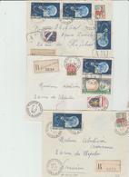 Côte Du Nord : PLEUMEUR BODOU Lot De 3 LR Années 60 TB - Postmark Collection (Covers)