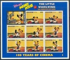 MzrA309c WALT DISNEY MICKEY MOUSE THE LITTLE WHIRLWIND CINEMA FILM KINO ANIMATED FLIP BOOK MALDIVES 1996 PF/MNH # - Disney