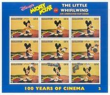 MzrA310c WALT DISNEY MICKEY MOUSE THE LITTLE WHIRLWIND CINEMA FILM KINO ANIMATED FLIP BOOK MALDIVES 1996 PF/MNH - Disney