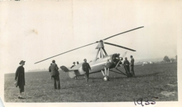 PHOTO ORIGINALE HELICOPTERE 1935 FORMAT 11 X 6.50 CM - Aviación