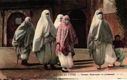 ALGERIE - SCENES ET TYPES FEMMES MAURESQUES EN PROMENADE - Algerije