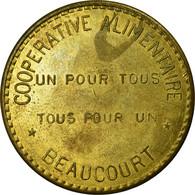 Monnaie, France, Coopérative Alimentaire, Beaucourt, 20 Centimes, SUP, Laiton - Monétaires / De Nécessité