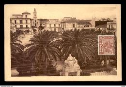 ALGERIE - GUYOTVILLE - LA PLACE ET L'EGLISE - Other Cities