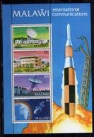 MALAWI 1981 INTERNATIONAL COMMUNICATIONS COMUNICAZIONI INTERNAZIONALI BLOCK SHEET BLOCCO FOGLIETTO MNH - Malawi (1964-...)