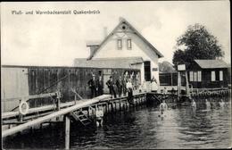 Cp Quakenbrück In Niedersachsen, Fluss Und Warmbadeanstalt - Allemagne