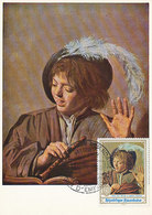 D37544 CARTE MAXIMUM CARD FD 1969 RWANDA - SINGING BOY WITH FLUTE BY FRANS HALS CP ORIGINAL - Künste