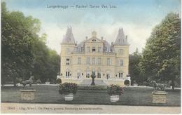 LANGERBRUGGE : Kasteel Baron Van Loo - RARE COLORISEE - Cachet De La Poste 1908 - Evergem