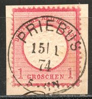 """""""PRIEBUS"""" Zentrischer Preußenstempel Briefstück Nr. 19 - Gebraucht"""