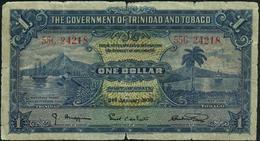 TRINIDAD & TOBAGO - 1 Dollar 02.01.1939 {Government Of Trinidad And Tobago} G-VG P.5 B - Trinidad & Tobago