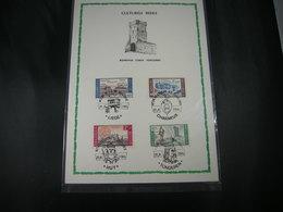 """BELG.1966 1385 1386 1387 & 1388 FDC Filatelia Cards: """" Culturele / Culturelle """" - 1961-70"""