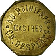 Monnaie, France, Au Printemps, Ch. DESPLATS, Castres, 25 Centimes, SUP, Laiton - Monétaires / De Nécessité