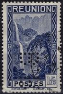 REUNION  143a (o) PERFORE B.R. Perfin Lochung Cirque De Salazie : Le Bras Des Demoiselles Cascade Site Touristique RARE - Usados