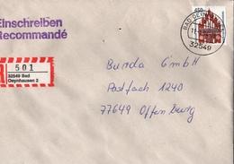 ! 1 Einschreiben 1994  Mit R-Zettel  Aus 32549 Bad Oeynhausen 2 - [7] Repubblica Federale