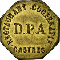 Monnaie, France, Restaurant Coopératif D.P.A, Castres, 25 Centimes, SUP - Monétaires / De Nécessité