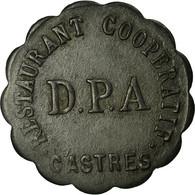 Monnaie, France, Restaurant Coopératif D.P.A, Castres, 10 Centimes, TTB, Zinc - Monétaires / De Nécessité