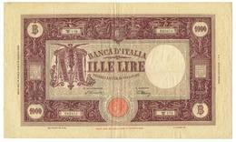 1000 LIRE BARBETTI GRANDE M - RETRO BI 13/04/1945 MB/BB - [ 1] …-1946 : Royaume