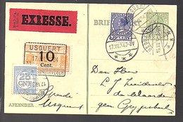 USQUERT 1934!! Expresse & Strafport (r.o. Defect, Maar Buitengewoon Zeldzaam) (FB-18) - Schienenverkehr