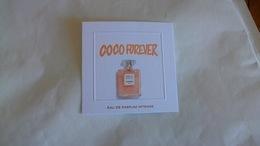 Carte Parfumée Chanel Coco Forever Eau De Parfum Intense - Perfume Cards
